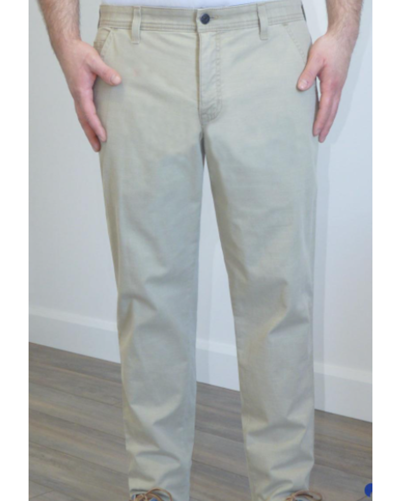MARCO Classic Fit Beige Stretch Casual Pant