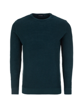 STONE ROSE Teal Waffle Weave Sweater