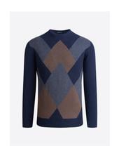 BUGATCHI UOMO Argyle Crew Neck Sweater