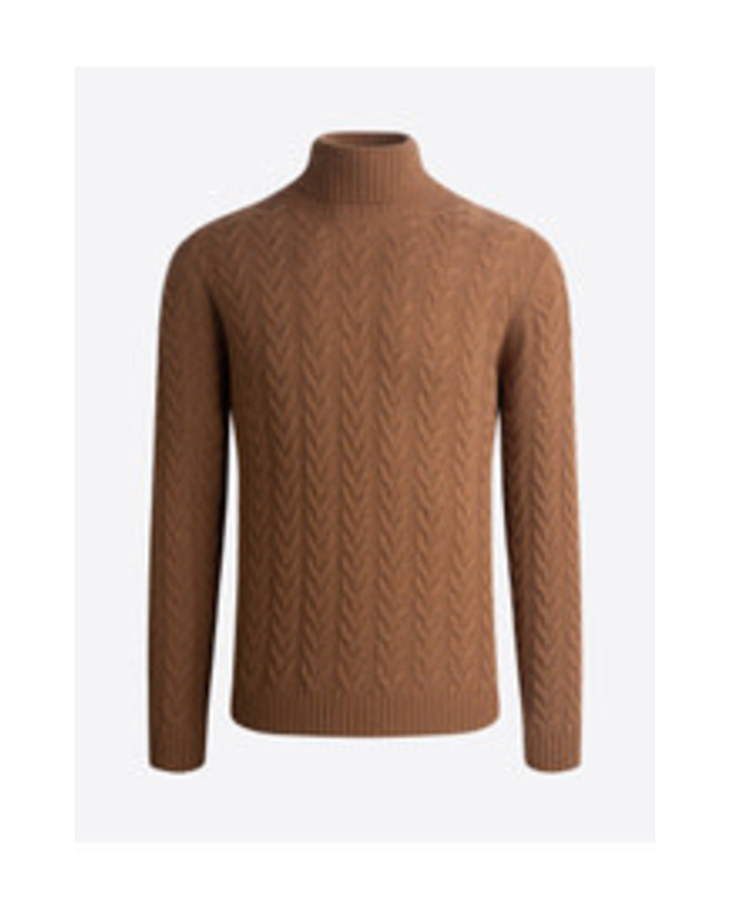 BUGATCHI UOMO Solid Cable Knit Turtleneck