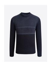 BUGATCHI UOMO Wool Panel Sweater Charcoal