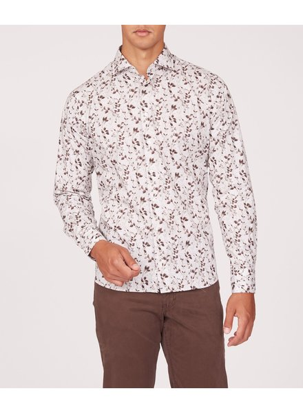 BRAX Modern Fit Tan Floral Shirt