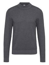 BUGATTI Grey Mock Neck Sweater