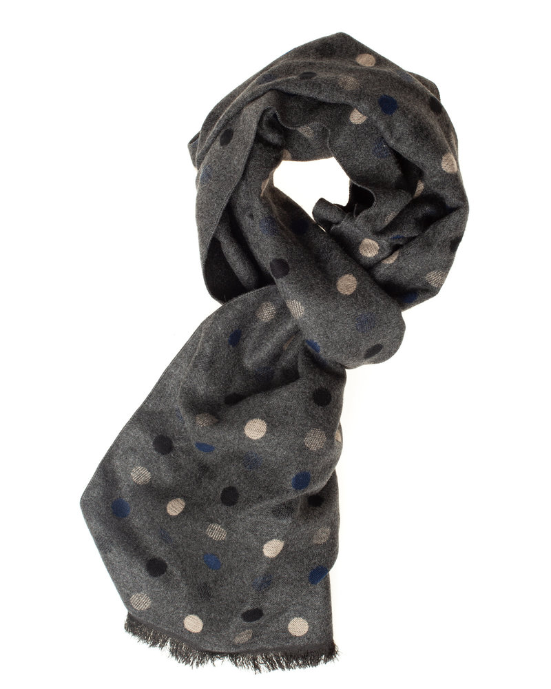 BUGATTI Grey with Dots Scarf