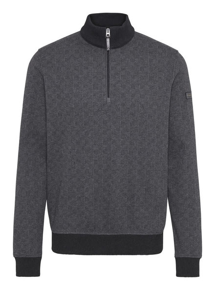 BUGATTI Charcoal Houndstooth 1/4 Zip
