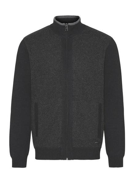 BUGATTI Charcoal Wool Full Zip