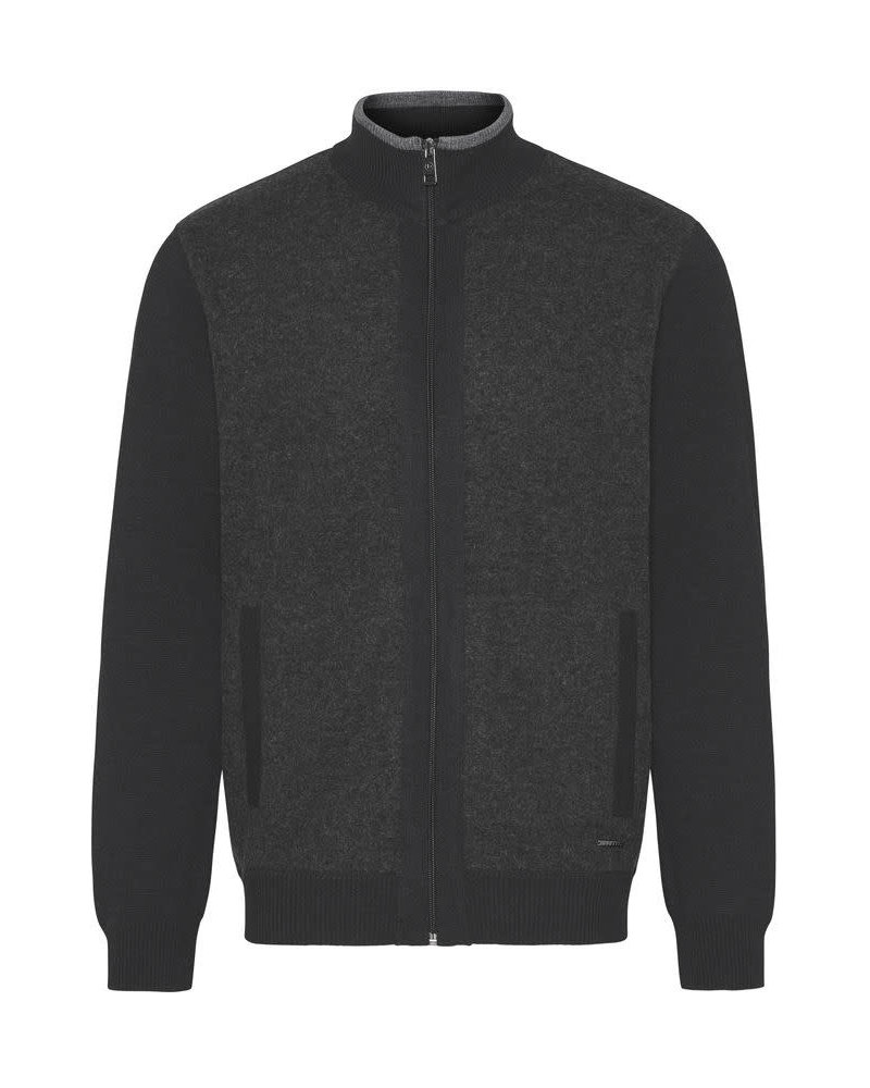 BUGATTI Charcoal Wool Full Zip
