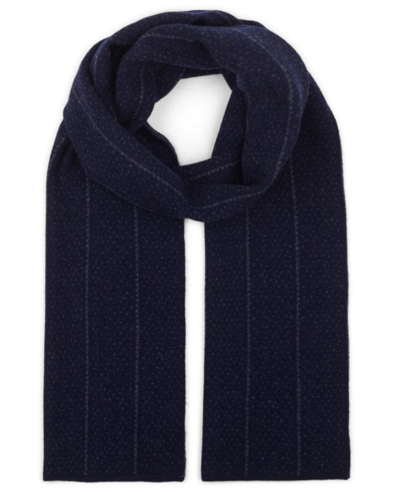 BRUUN & STENGADE Navy Wool Scarf