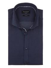 BRUUN & STENGADE Modern Fit Dark Blue with Dot Shirt