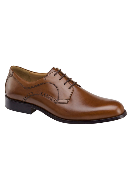 JOHNSTON & MURPHY Harmon Tan Plain Toe Shoe