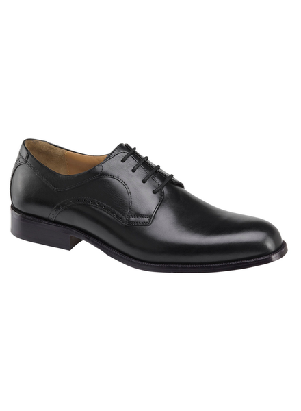 JOHNSTON & MURPHY Harmon Black Plain Toe Shoe