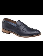 JOHNSTON & MURPHY Milliken Navy Penny Loafer Shoe