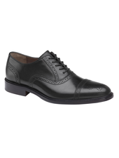 JOHNSTON & MURPHY Daley Black Cap Toe Shoe