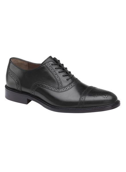 JOHNSTON & MURPHY Daley Black Cap Toe Shoe
