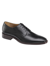 JOHNSTON & MURPHY Sanborn Black Plain Toe Shoe