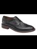 JOHNSTON & MURPHY Brewer Black Wingtip Calfskin/Wool Shoe