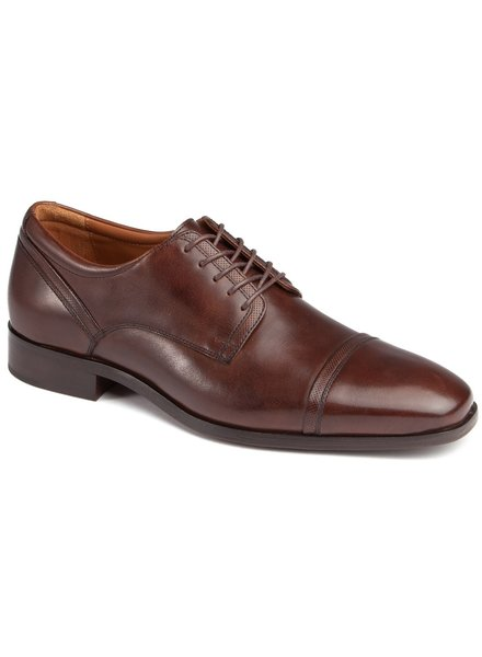 JOHNSTON & MURPHY Armstrong Mahogany Cap Toe Shoe