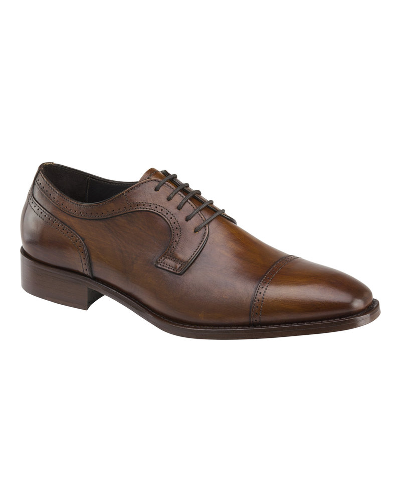JOHNSTON & MURPHY Mahogany Cormac Toe Cap Dress Shoe