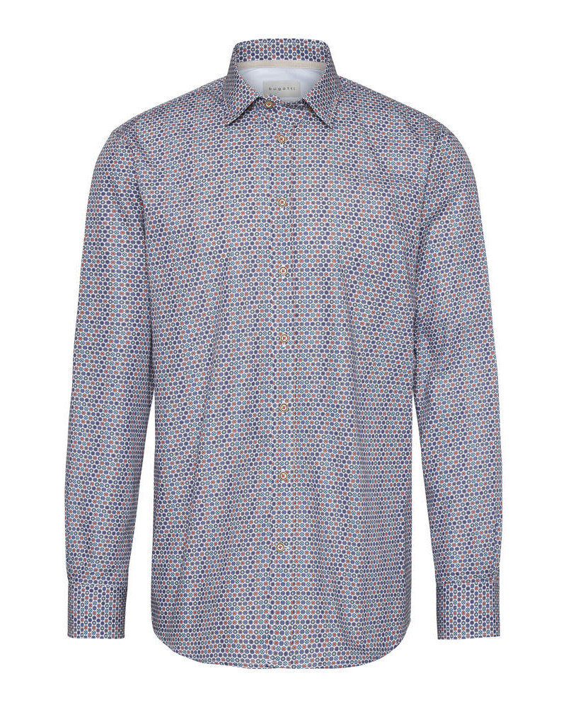 BUGATTI Modern Fit Multi Colour Dots Shirt