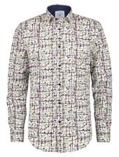 A FISH NAMED FRED Modern White Mondriaan Art Shirt