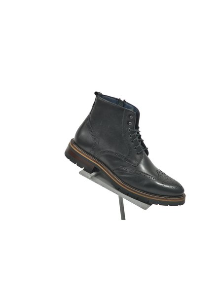 JOHNSTON & MURPHY Black Cody Wingtip Boot