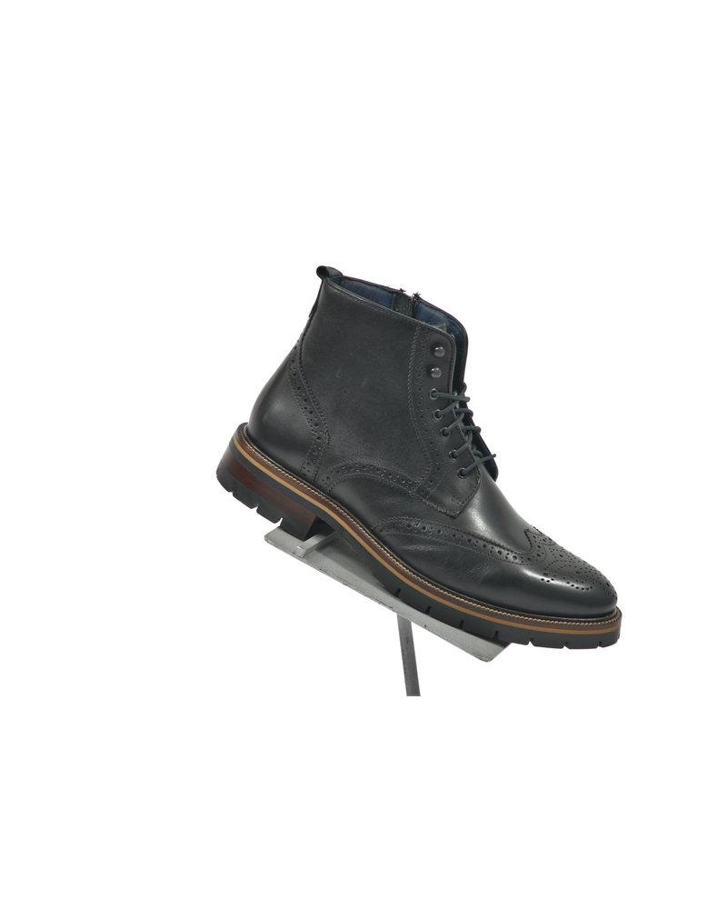 JOHNSTON & MURPHY Black Cody Wingtip Boot