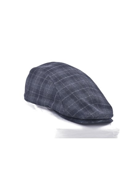 GOTTMANN Blue Plaid Wool Twill Cap