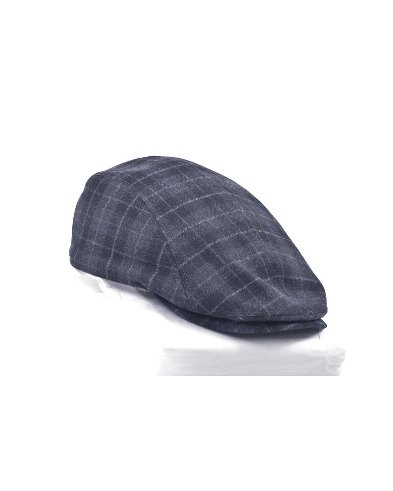 GOTTMANN Blue Plaid Wool Twill Cap