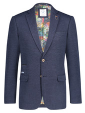 A FISH NAMED FRED Modern Fit Blue Structure Knit Sport Coat