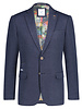 A FISH NAMED FRED Slim Fit Blue Knit Sport Coat