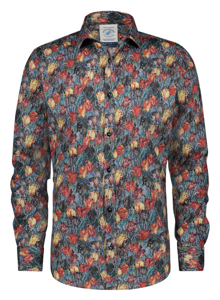 A FISH NAMED FRED Modern Fit Art Tulips Shirt