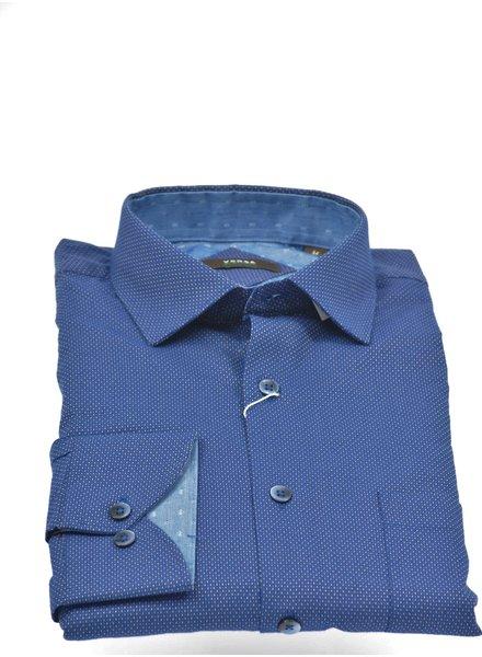 VERSA Modern Fit Blue with Dots Shirt