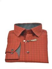 VERSA Modern Fit Rust with Block Shirt