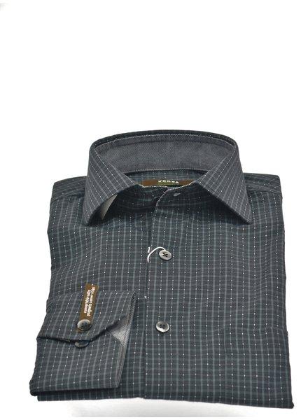 Modern Fit Black with Grey Block Shirt