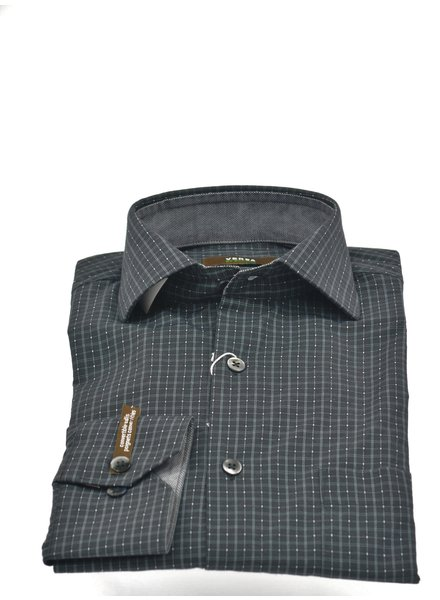 VERSA Modern Fit Black with Grey Block Shirt
