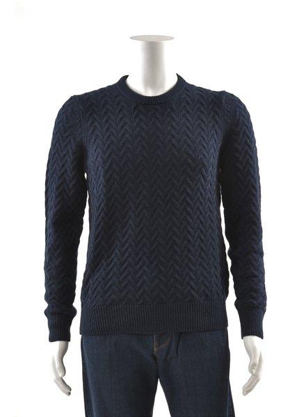 MICHAEL KORS Wool Cotton Blend Crew Neck Sweater