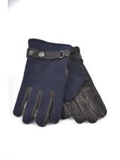 BUGATTI Leather Front Knit Back Gloves