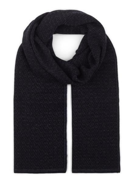 BRUUN & STENGADE Black Wool Scarf
