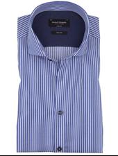 BRUUN & STENGADE Modern Fit Blue White Stripe Shirt