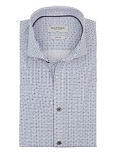 BRUUN & STENGADE Slim Fit Blue White Diamond Shirt