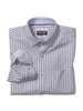 JOHNSTON & MURPHY Classic Fit Navy Burgundy Mini Check Shirt