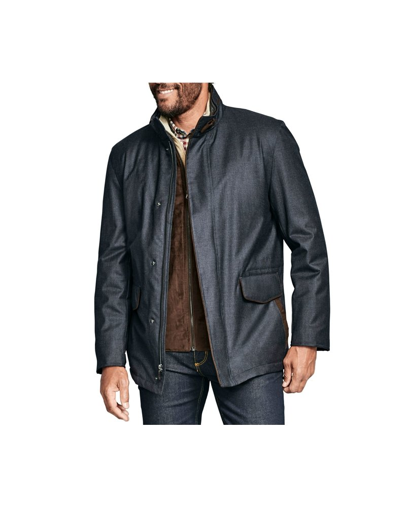 JOHNSTON & MURPHY Heathered Charcoal Jacket