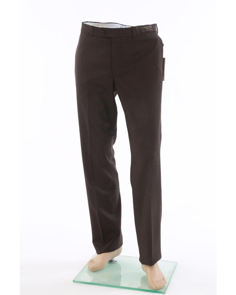 JACK VICTOR Modern Fit Brown Flannel Dress Pant
