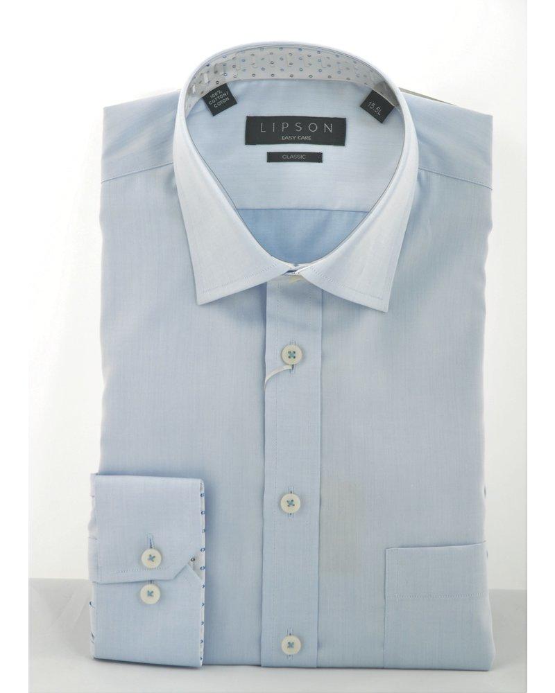 LIPSON Classic Fit Blue Shirt