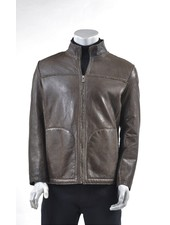 Tan Faux Shearling Lined Bomber Jacket