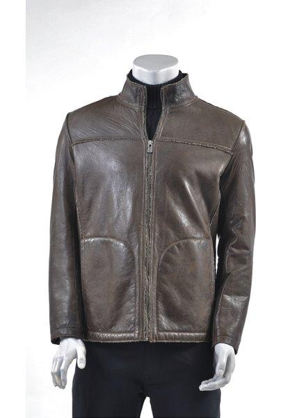 REGENCY Tan Faux Shearling Lined Bomber Jacket