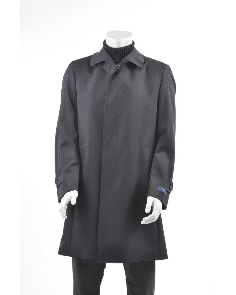 Navy Wool Raglan