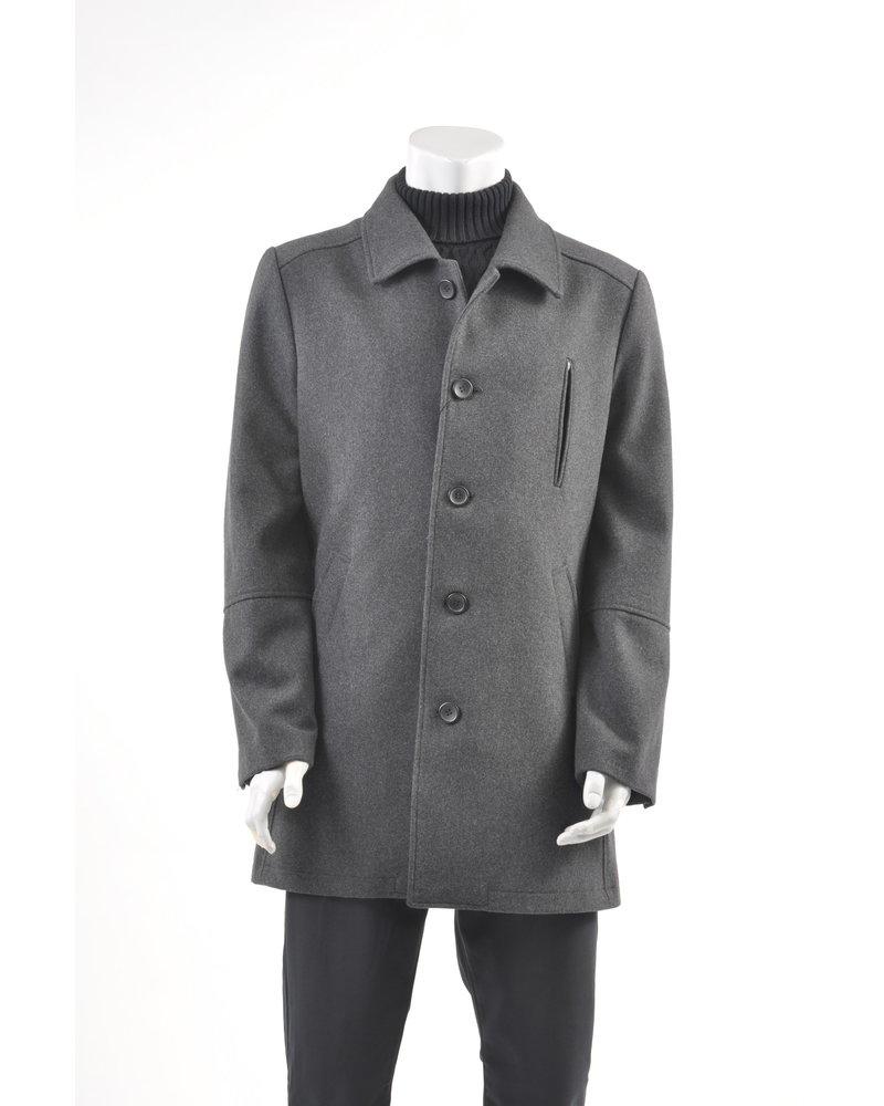 BRUUN & STENGADE Charcoal Overcoat