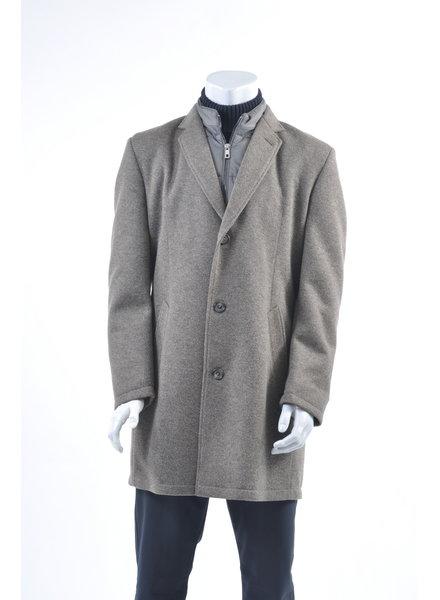 BUGATTI Tan Wool Melange Overcoat