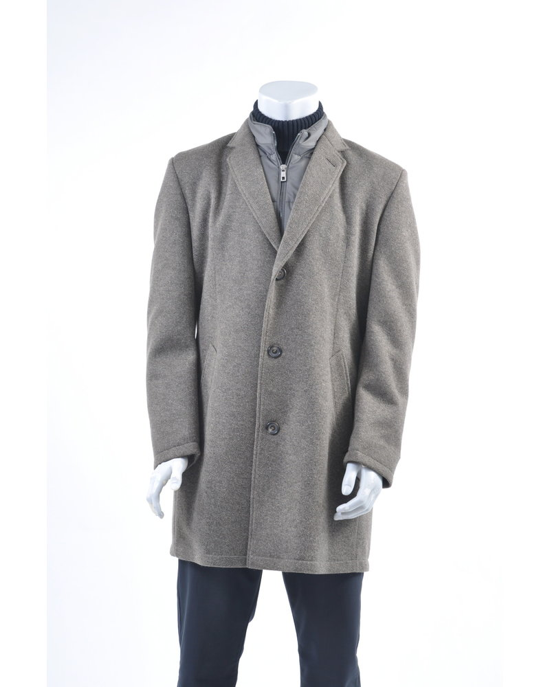 BUGATTI Tan Wool Melange Overcoat